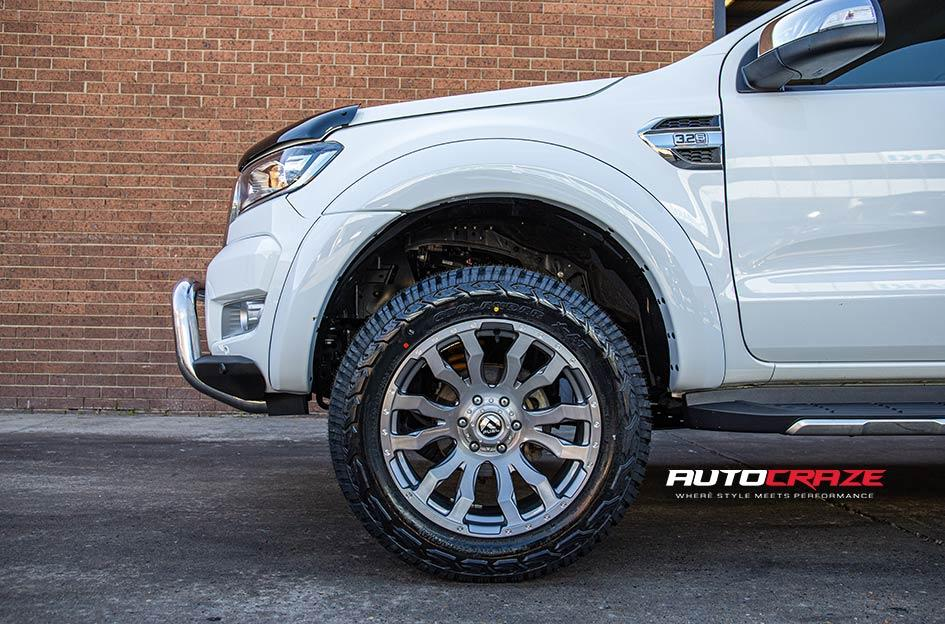 FORD RANGER BLITZ PLATINUM BRUSHED GUN METAL TINTED CLEAR