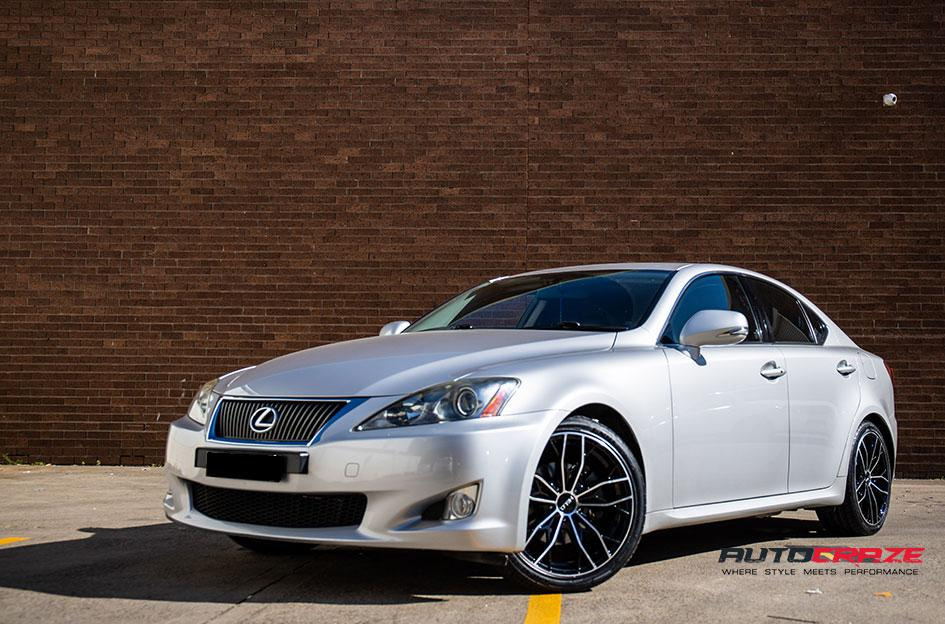 LEXUS IS250 HE907 GLOSS BLACK MACHINED FACE