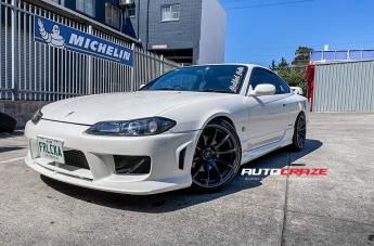 Nissan 200SX S15 57TRANSCEND DARK GUNMETAL MACHINED EDGE