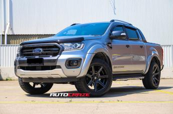 FORD RANGER AVALANCHE MATTE BLACK FRONT MILLED  small