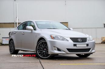 Lexus IS250 IFG29 BLACK MACHINED FACE CLEAR COAT