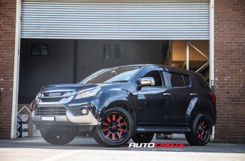 Isuzu MU-X HARDLINE GLOSS BLACK CANDY RED ACCENTS