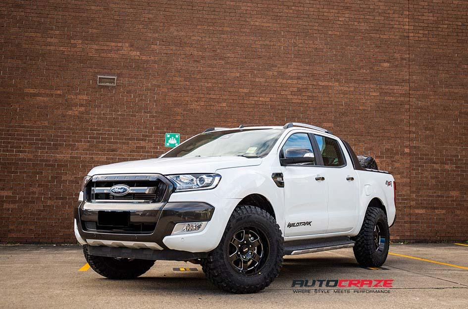 FORD RANGER AR926 PATROL GLOSS BLACK MILLED