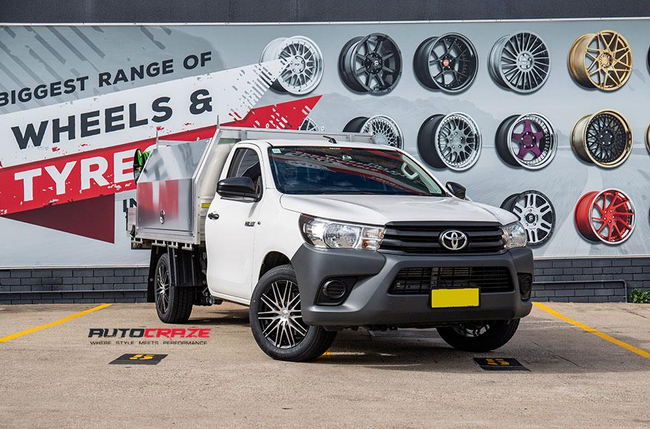 TOYOTA HILUX 4WD HE880 GLOSS BLACK MACHINED FACE