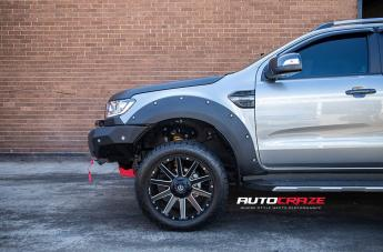 FORD RANGER CONTRA MATTE BLACK MILLED  small