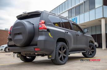 TOYOTA PRADO DISTRICT TRUCK MATTE BLACK TINTED FACE  small