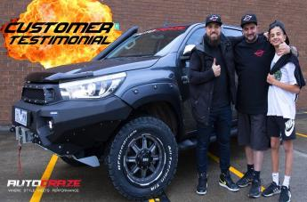 Toyota HILUX 4WD GD10 MATTE ANTHRACITE MILLED WITH BLACK LIP