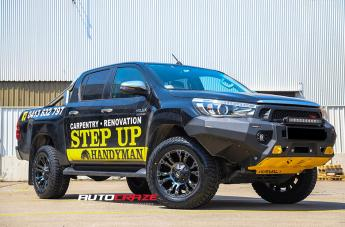 TOYOTA HILUX 4WD VAPOR BLACK MACHINED WITH DARK TINT  small