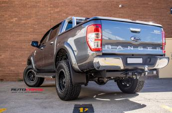 FORD RANGER ANZA MATTE BLACK WITH ANTHRACITE RING  small
