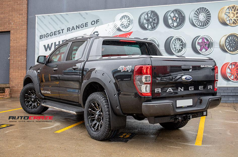 FORD RANGER BATTLE AXE GLOSS BLACK MILLED ACCENTS