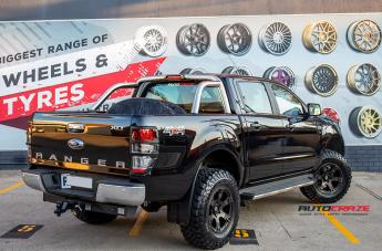 FORD RANGER BEAST BLACK   MACHINED WITH DARK TINT  small