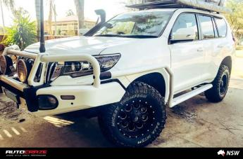 TOYOTA PRADO REVOLVER GLOSS BLACK WITH MILLED ACCENTS  small