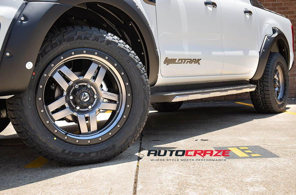 FORD RANGER ANZA MATTE ANTHRACITE WITH BLACK RING