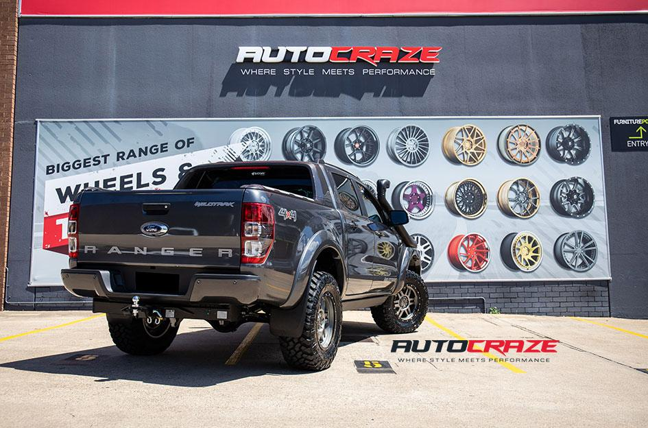 FORD RANGER T 16 MATTE ANTHRACITE WITH BLACK RING