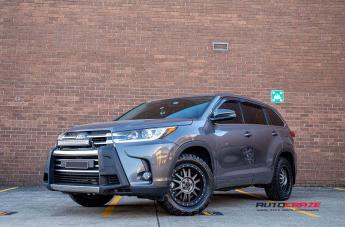 TOYOTA KLUGER TANAY MATTE BLACK MACHINED FACE WITH DARK MATTE TINT  small
