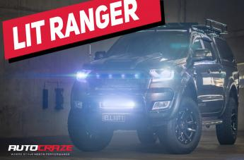 Ford RANGER HIGHLAND MATTE BLACK WITH MILLED SPOKES
