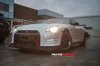 Nissan GTR R35 FORGED ATTACK 5 MATTE CANDY BLACK POLISHED LIP