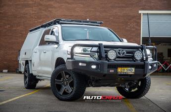 Toyota LANDCRUISER KM702 SATIN BLACK MILLED ACCENTS