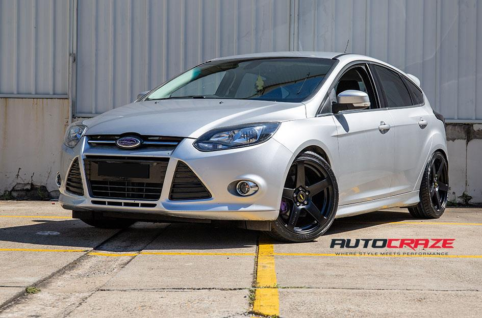 FORD FOCUS  5 STUD  FRC FLAT BLACK