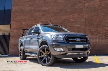 FORD RANGER AVALANCHE MACHINED FACE MATTE BLACK DARK TINT  small