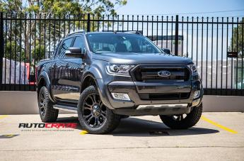 FORD RANGER VAPOR BLACK MACHINED WITH DARK TINT  small