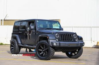 Jeep WRANGLER GD12 GLOSS BLACK MILLED