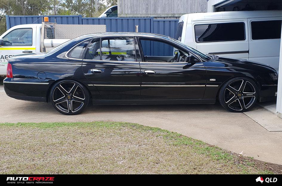 HOLDEN STATESMAN FRCS MATTE BLACK MILLED ACCENTS