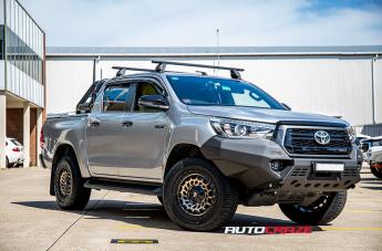 Toyota HILUX 4WD ZOMBIE SATIN BLACK MACHINED BRONZE TINT
