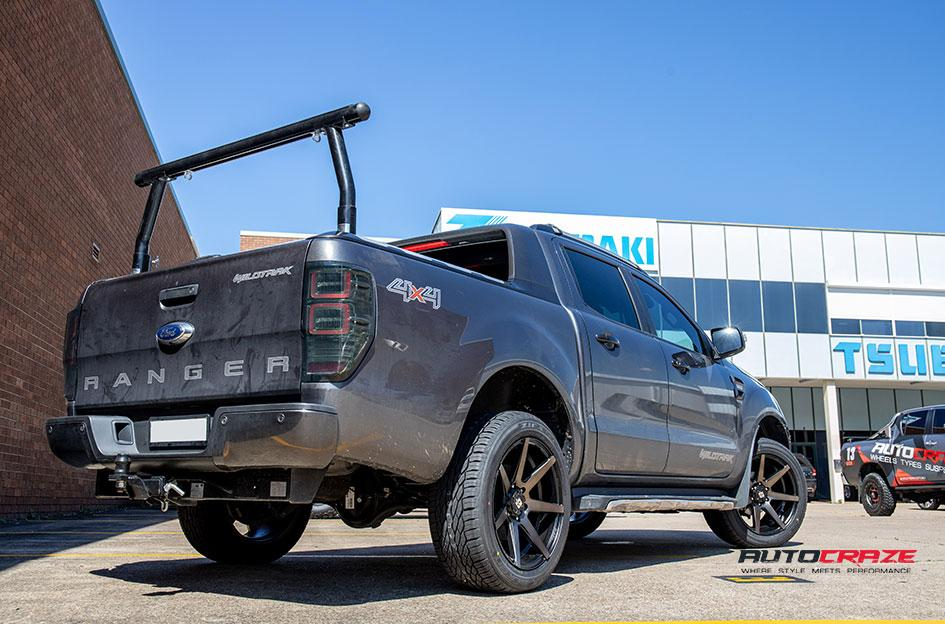 FORD RANGER AVALANCHE MACHINED FACE MATTE BLACK DARK TINT