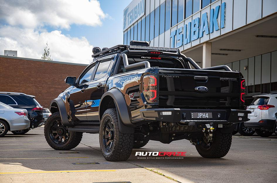 FORD RANGER RAPTOR KMC GAUNTLET XD852 SATIN BLACK