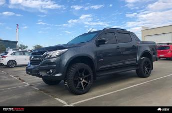 HOLDEN COLORADO AVALANCHE MACHINED FACE MATTE BLACK DARK TINT  small