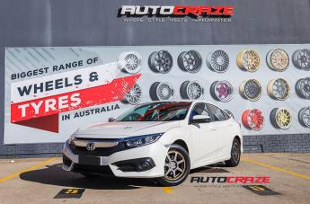 Honda Civic MR132 MATTE GREY ORANGE STRIPE
