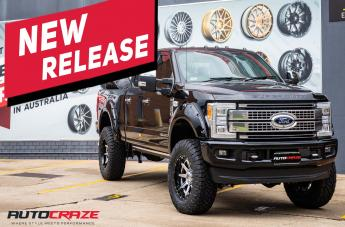 Ford F250 RAMPAGE CHROME CENTER AND GLOSS BLACK OUTER