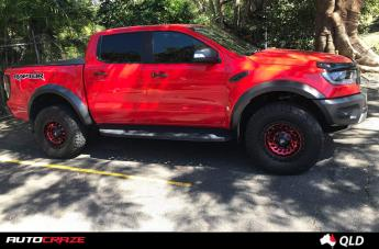 FORD RANGER RAPTOR ZOMBIE GLOSS BLACK MACHINED RED  small