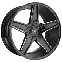NICHE CANNES GLOSS BLACK MILLED ACCENTS