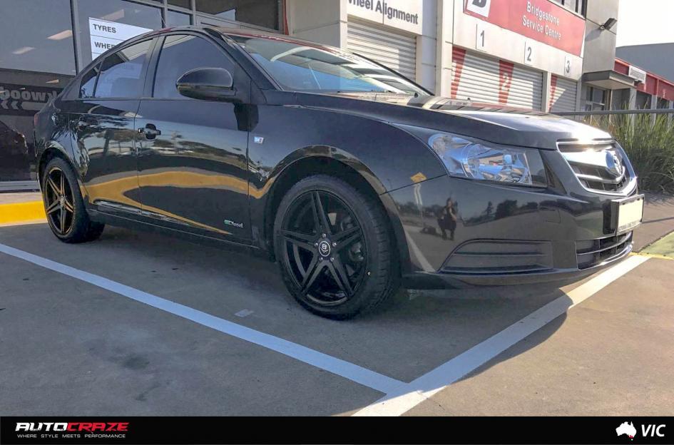 Holden CRUZE PETROL (2013 ONWARDS) CONCAVE MATTE BLACK