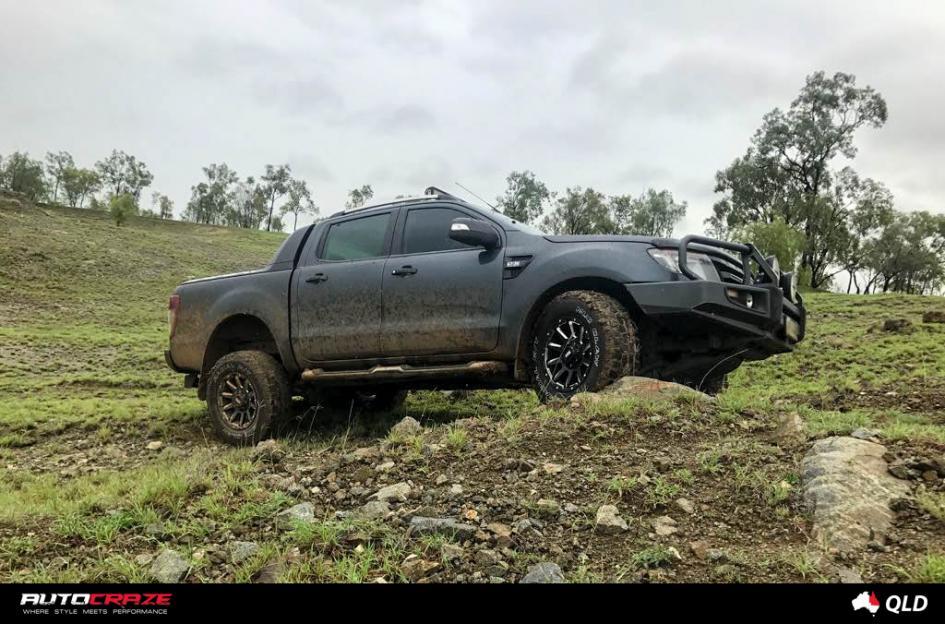 Ford RANGER GRID GD05 MATTE BLACK MILLED ACCENTS