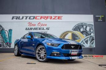 Ford MUSTANG ESSEN SILVER MACHINED FACE