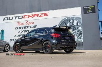 MERCEDES A45 AMG WATKINS MATTE BLACK WITH GLOSS BLACK FACE  small