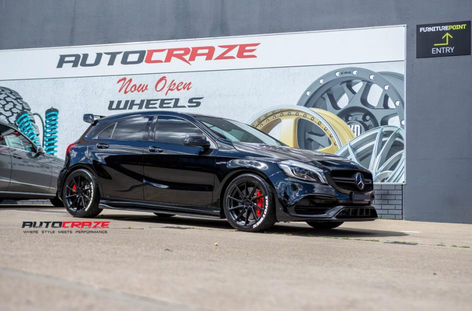 Mercedes A45 AMG WATKINS MATTE BLACK WITH GLOSS BLACK FACE