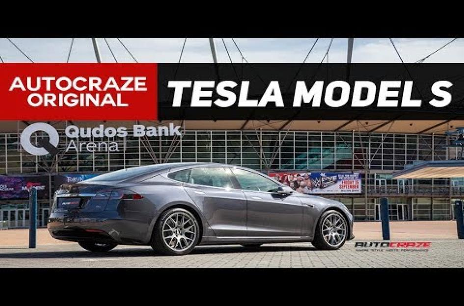 Tesla MODEL S CH-R MATTE TITANIUM WITH STAINLESS STEEL RIM PROTECTOR