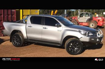 TOYOTA HILUX 4WD BATTLE AXE GLOSS BLACK MILLED ACCENTS  small