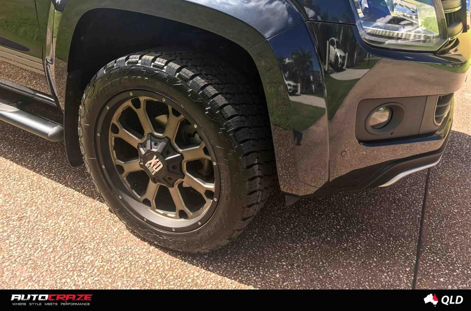 Volkswagen Amarok Buck 25 Xd Matte Black Machined Face