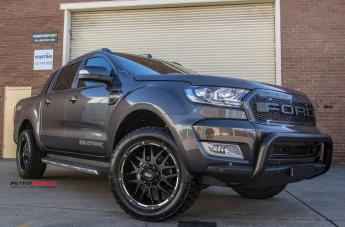 FORD RANGER GD02 MATTE BLACK MILLED ACCENTS  small